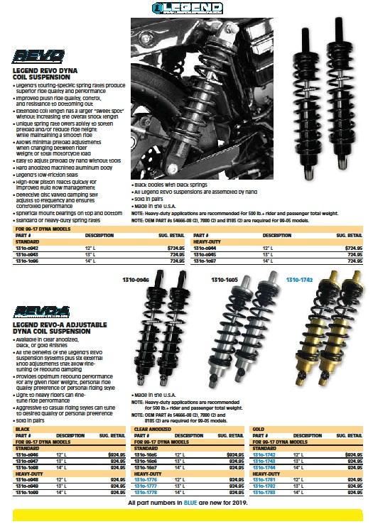 Legend DYNA suspension coil shock