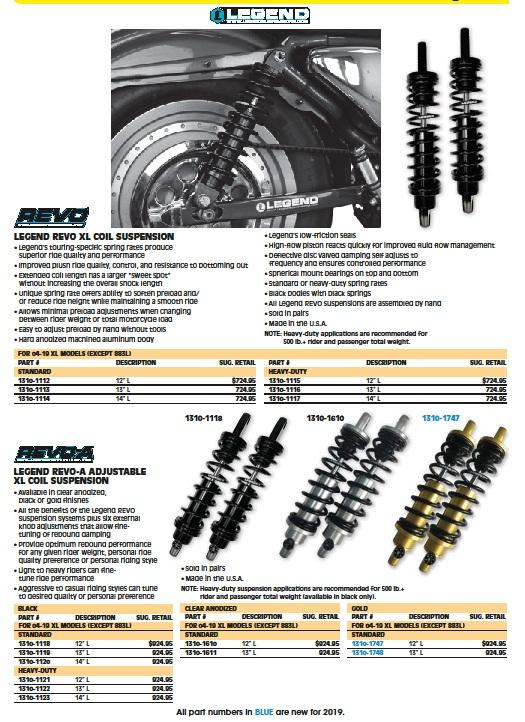 Legend XL suspension coil shock