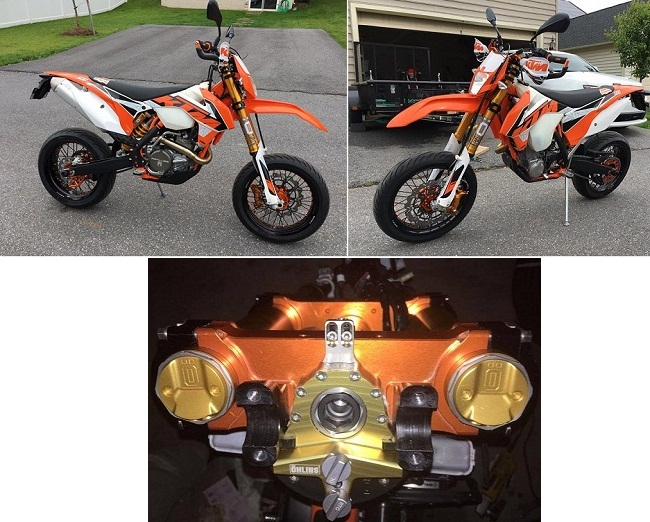 2016 KTM 500EXc SuperMoto Brian JAmes Maryland
