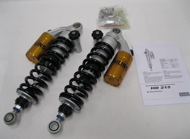 Ohlins HD215 Harley Shocks with springs FLH FLT S36PR1C1LB
