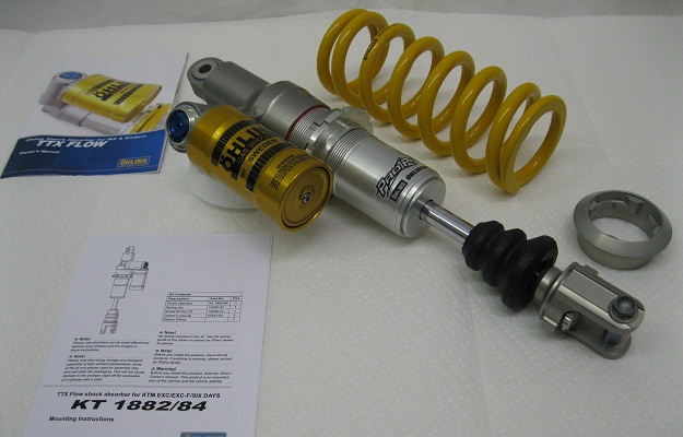 Ohlins TTx Flow KT1882_KT1884 Shock and spring KTM_PDS_