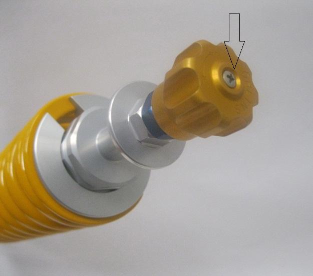 BM842 Ohlins Rebound knob