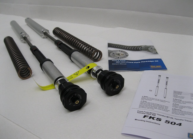 Ohlins 30mm FKS504 CArtrideg Kit with Fork Sprgs FJ09 FZ09 XSR Tracer