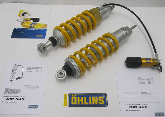 Ohlins BMW R1150 GS shocks BM425 BM940 with Preloader_ Wilbers_Nitron_Tourtaech_Hyperpro_Yachgar