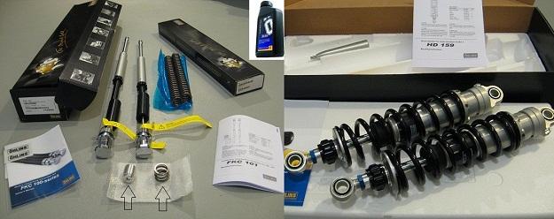 Ohlins Combo HD159 and Harley-Cartridge-kit-FKC1011