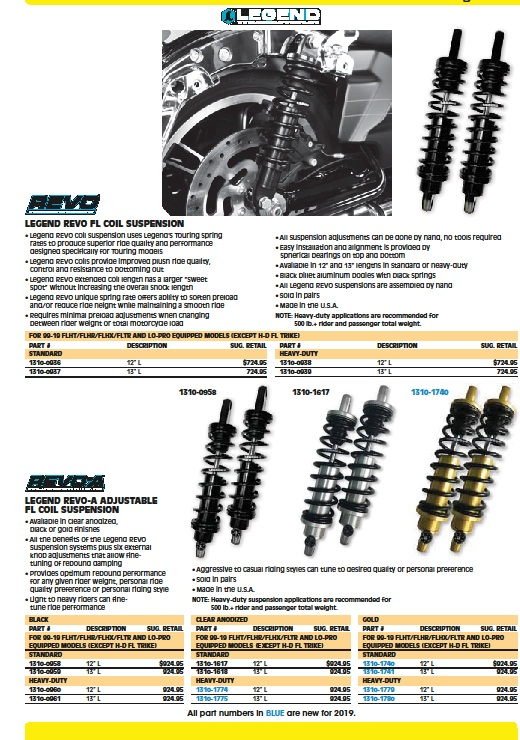 Legend FL suspension Harley coil shocks