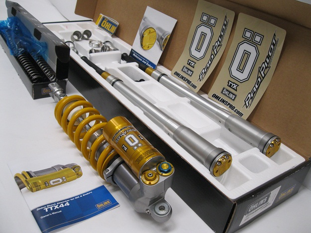KXF450 OHLINS TTX Shock and Fork Cartridge Kit