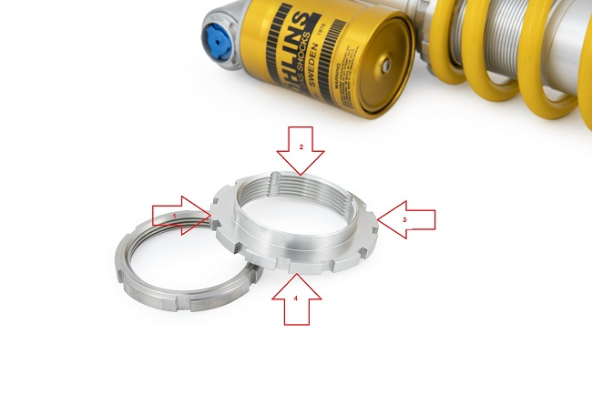 Ohlins TTx Flow Spring Collar Spanner and Lock