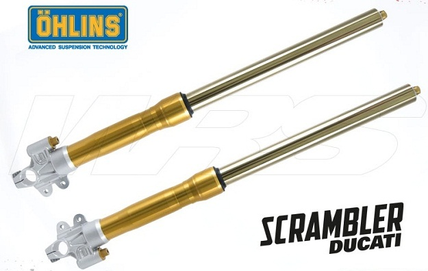 Ducati Scrambler Ohlins Forks with triple clamps and mount kit