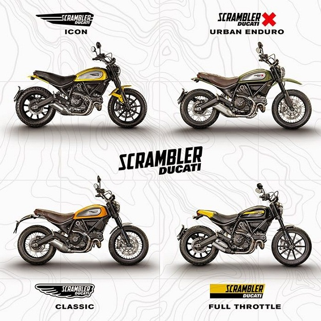 Ducati Scrambler types