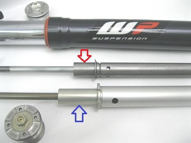KTM 1190R Ohlins vs WP Forks IMG_3214