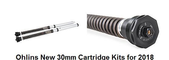 Ohlins New FKS504 FZ09_Tracer_30mm Cartrige NIX Kit_FJ09 on sale_8423 Series fork spgs