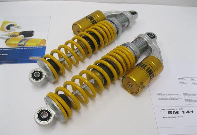 Ohlins Bm 141 Twin Pair Yellow Springs Shocks
