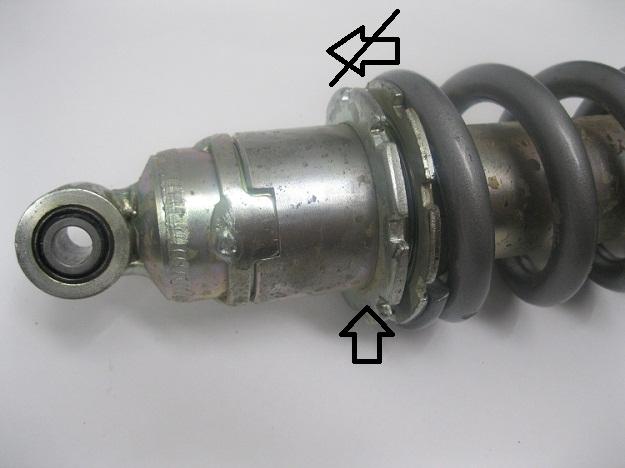 Removing Honda CRF250L Shock Spring
