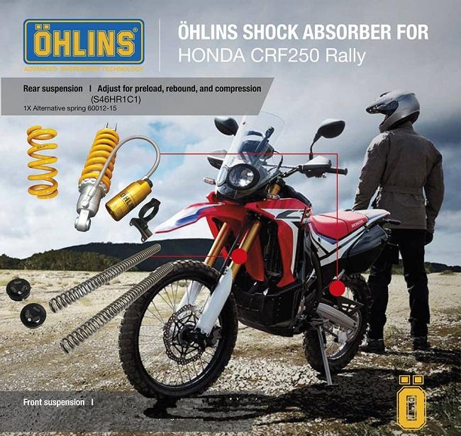 Ohlins Ralley HO703 Shock Fork Spring Cap Kit FKS123